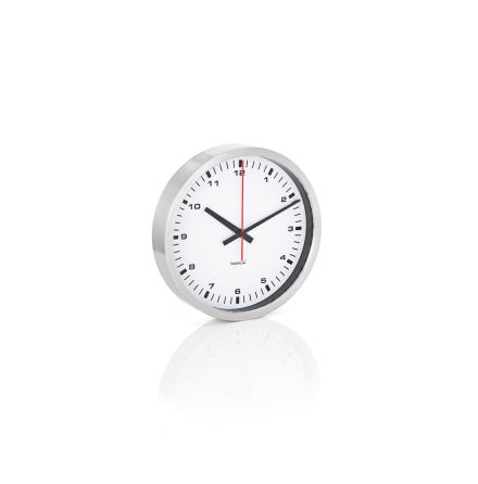 ERA, Väggklocka, vit, Ø 30 cm