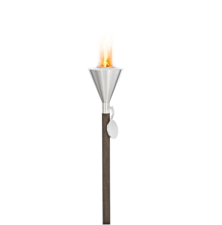 garden torch for burning gel,