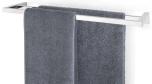 Twin Towel Rail, 64 cm, polish