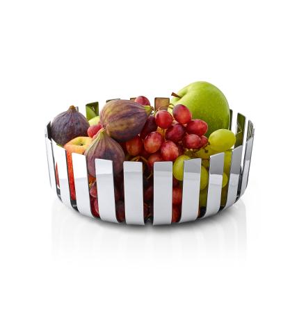 GUSTO, Fruktskål, polerat stål
