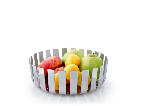 GUSTO, Fruktskål, matt stål