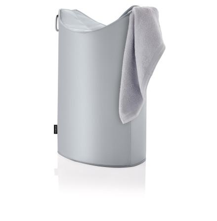FRISCO tvättkorg silver/grå