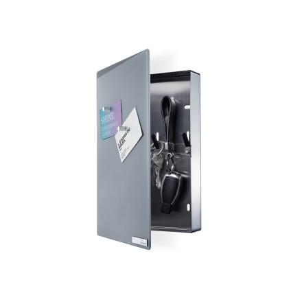 VELIO, Nyckelskåp med magnettavla, Grå, Small