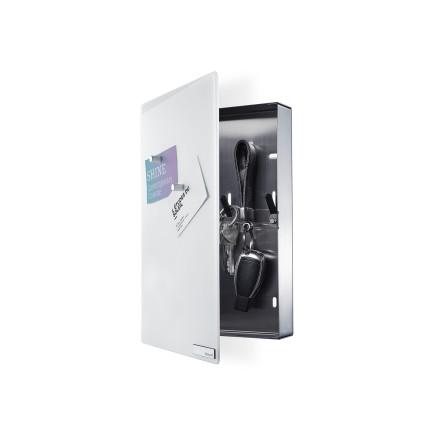 VELIO, Nyckelskåp med magnettavla, Vit, Small