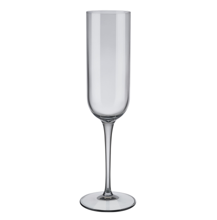 Set med 4 champagneglas, Smoke, FUUM