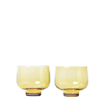 FLOW,Set/2 Tumblerglas, Dull Gold