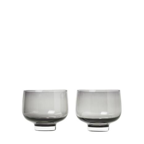 FLOW, Set/2 Tumbler Glas, Smoke