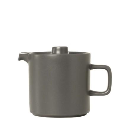 MIO Teapot, H 13,5 cm, T 18 cm, Ø 12 cm, V 1 l Pewter