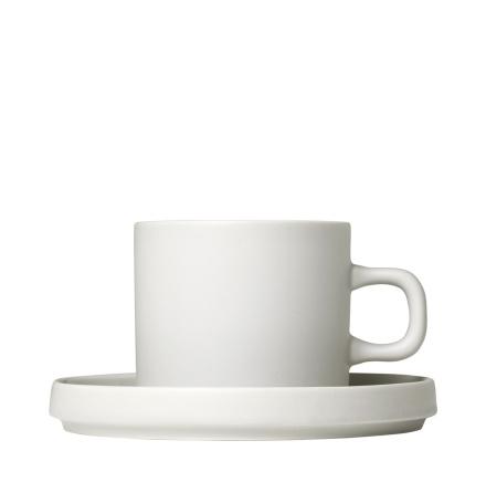 PILAR, Set 2 kaffemuggar & fat, 4 pcs. Moonbeam