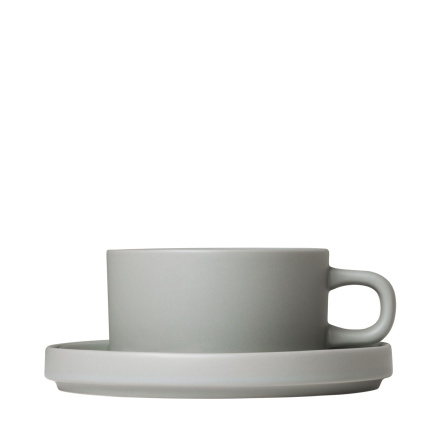 PILAR, Set med 2 temuggar & fat, 4 delar, Mirage Grey