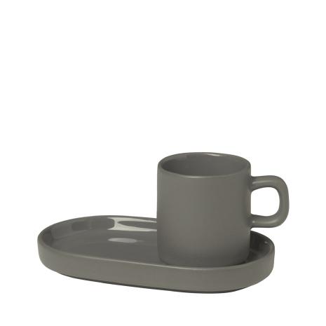 PILAR Set med 2 Espressomuggar - Pewter