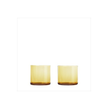 Set 2 Tumbler Glas, Dull Gold, MERA