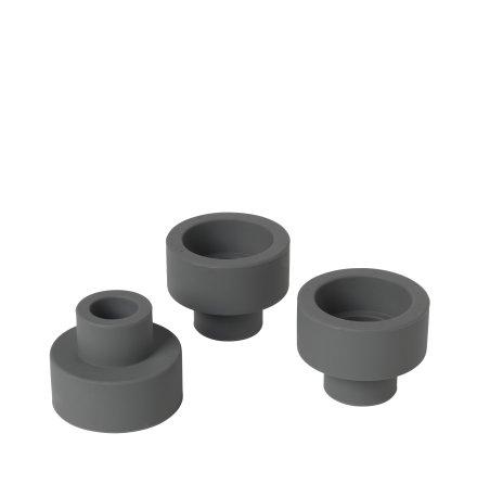 TRIO Set/3 Ljushållare, Gunmetal