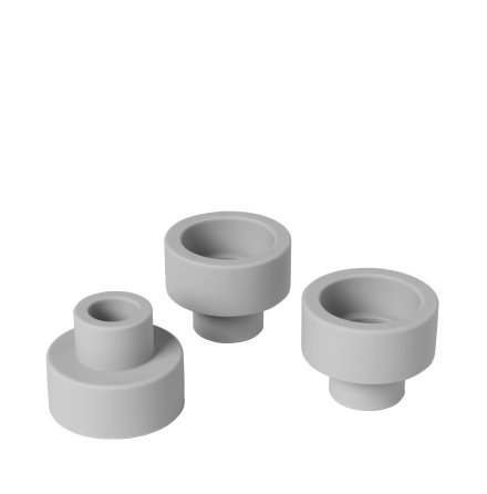 TRIO Set/3 Ljushållare, Mirage Grey