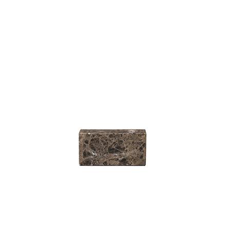 Ljusstake, Brun marmor, BLOC