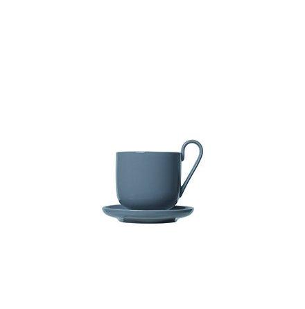 RO 2-pack Kaffekoppar med fat Sharkskin
